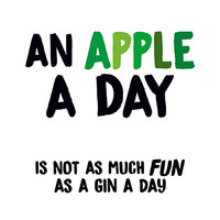 An Apple A Day Funny Birthday Card