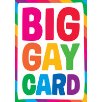 Big Gay Card Funny Birthday Card
