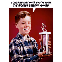 Biggest Bellend Award Rude Birthday Card