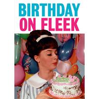 Birthday On Fleek Funny Birthday Card