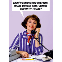 Emergency Helpline Funny Mothers Day Card