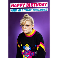 Happy Birthday And All That Bollocks Rude Birthday Card