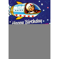 Happy Birthday Space Cadet Funny Birthday Card