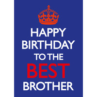 Happy Birthday To The Best Brother Funny Birthday Card