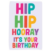 Hip Hip Hooray Funny Birthday Card