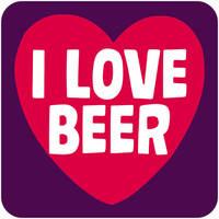 I Love Beer Funny Coaster