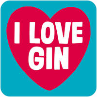 I Love Gin Funny Coaster