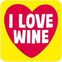 I Love Wine Funny Coaster
