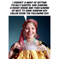 I Predict A Night Of Getting Totally Wasted Funny Birthday Card