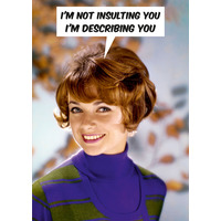 I'm Not Insulting You Rude Birthday Card