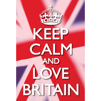 Keep Calm And Love Britain Funny Fridge Magnet