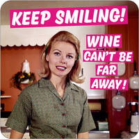 Keep Smiling. Wine Can't Be That Far Away Funny Coaster