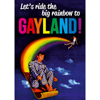 Let's Ride The Big Rainbow Funny Birthday Card