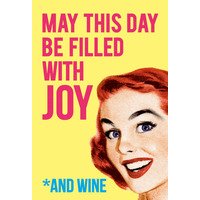May This Day Be Filled With Joy Fridge Magnet Funny