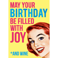 May Your Birthday Be Filled With Joy (LARGE CARD) Funny