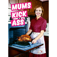 Mums Kick Ass Funny Birthday Card