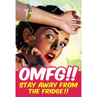 OMFG!! Stay Away From The Funny Fridge Magnet
