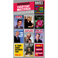 Offensive Everyday Rude Card Pack of 10 Multipack