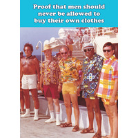 Proof That Men Funny Birthday Card