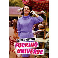 Queen Of The Fucking Universe Fridge Magnet Rude