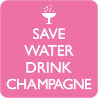 Save Water Drink Campagne Funny Coaster