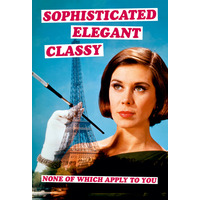 Sophisticated Elegant Classy Fridge Magnet Funny