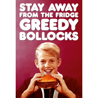 Stay Away From The Greedy Bollocks Rude Fridge Magnet