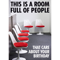 This Is A Room Full Of People Funny Birthday Card