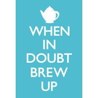 When In Doubt Brew Up Funny Fridge Magnet