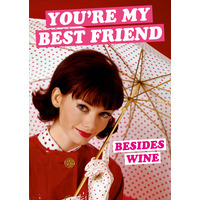 You're My Best Friend Funny Birthday Card