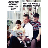 You're The World's Greatest Dad Funny Birthday Card