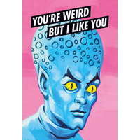 You're Weird But I Like You Funny Fridge Magnet