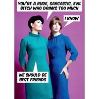 You're a Rude, Sarcastic, Evil Bitch Funny Birthday Cards