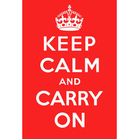 Keep Calm And Carry On Funny Fridge Magnet