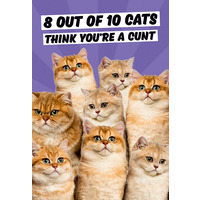 8 Out Of 10 Cats Rude Fridge Magnet