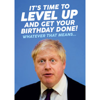 Boris Johnson Level Up Funny Birthday Card