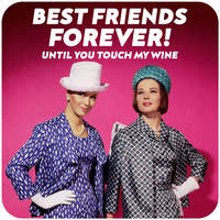 Best Friends Forever Funny Coaster