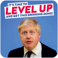 Level Up and Get This Drinking Done Funny Coaster