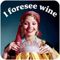 I Foresee Wine Funny Coaster