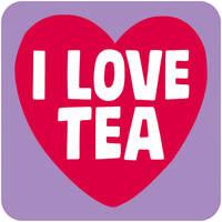 I Love Tea Funny Coaster